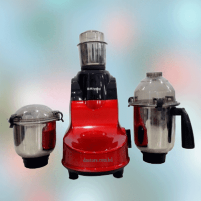 Miyako Red Horse 3 in 1 Electric Blender 850W - Red & Silver